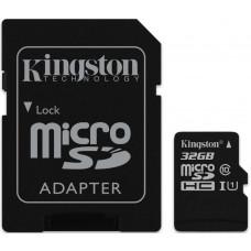 Карта памяти Kingston microSDHC 32GB Class 10 UHS-I R45/W10MB/s + SD адаптер